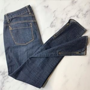 Dark Wash Ankle Zip Mid- Rise Skinny Jeans Size 26